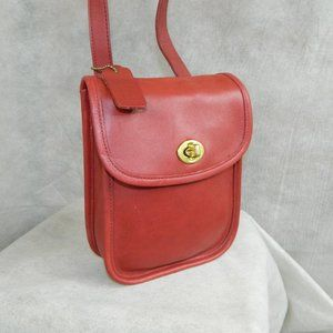 COACH Vintage Small Sidepack Bag B6C-9978 RED EXC